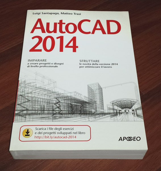 libro su AutoCAD in formato book (carta) ed ebook (elettronico)